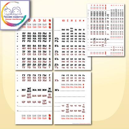Таблицы по методике Н.Зайцева
