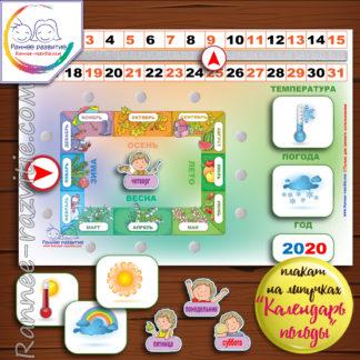 "Плакат на липучках ""Календарь погоды"""