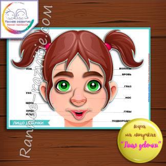 Игра на липучках «Лицо девочки»
