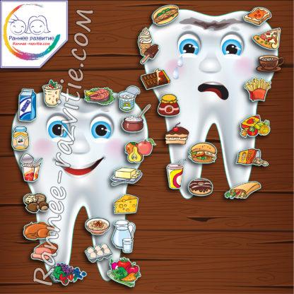 Дидактическая игра «Полезное и вредное для зубов»