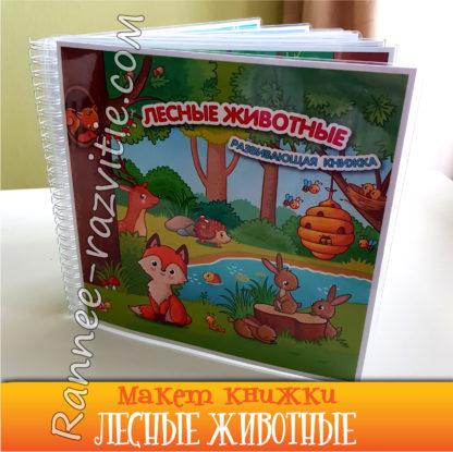"""Развивающая книжка """"Лесные животные"""""""