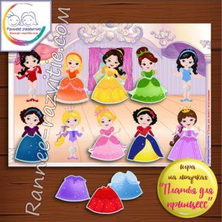 Игра на липучках «Платья для принцесс»
