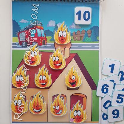 Математическая игра «Потуши пожар»